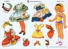10 láminas de recortables muñecas recortables l - Comprar Recortables antiguos de muñecas en todocoleccion - 47710499