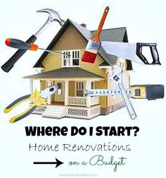Home Renovation Tips: When the budget is tight, where do I even begin and what creates the best value? Home Renovations on a Budget. Lots of great ideas for making changes while watching the wallet. Home Fix, H & M Home, Home Upgrades, Home Improvement Projects, Home Projects, Home Renovation, Home Remodeling, Remodeling Costs, Eco Casas