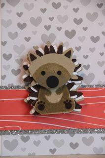 Hedgehog VS fox builder punch Stampin Up Paper Punch Art, Punch Art Cards, Foxy Friends Punch, Cool Paper Crafts, Craft Punches, Stamping Up Cards, Animal Cards, Cards For Friends, Fall Cards