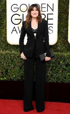 Kathryn Hahn from 2017 Golden Globes Red Carpet Arrivals