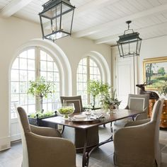 The Welcoming House | Jane Schwab & Cindy Smith. Great arched windows and dining space!