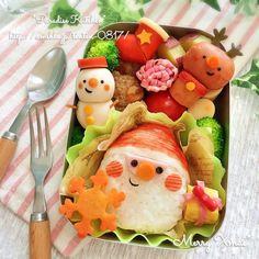 *簡単サンタおにぎり de クリスマス弁当*