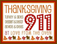 Thanksgiving 911 - Lots of advice and last minute tips!