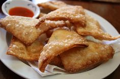 Siracha Crab Rangoon - I hate to deep fry but I can probably get away with using just a little bit of oil.