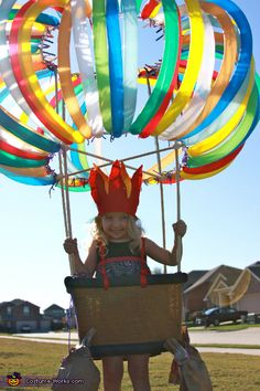 Homemade Hot Air Balloon Costume - Lots of homemade costume inspiration on this page