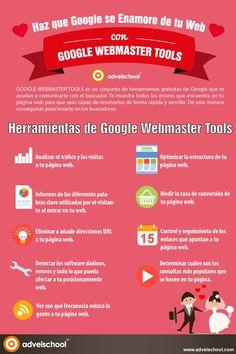 Haz que Google se enamore de tu web con las Webmaster Tools #infografia #infographic #seo
