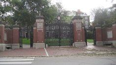 entrance gates Brown University in Providence