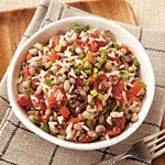 Hoppin' John Recipe   MyRecipes.com  This is a bit outside my comfort zone but it looks tasty.  Hope it's not too hot.