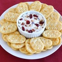 Christmas Appetizers, Desserts, Snacks and Party Ideas, like this Pecan Cranberry Spread #Christmas