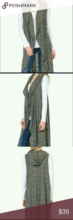 Black and tan hooded cardigan Gorgeous black and tan hooded cardigan. Brand new, super soft material  70% polyester 25% rayon 5% spandex. sizes from small to x-large prefect to dress up any outfit. Bellino Clothing Sweaters Cardigans