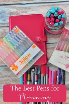 The best pens for planning - with links to where you can purchase them.
