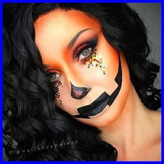 Halloween is almost here! It's the time to start thinking about your costume and makeup. We have found 45 pretty DIY Halloween makeup looks...#Halloween #Pretty #Makeup #Looks #Ideas pumpkin halloween costume 45 Pretty DIY Halloween Makeup Looks & Ideas 10+ | pumpkin halloween costume | 2020 Halloween Pumpkin Makeup, Cute Halloween Makeup, Halloween Makeup Looks, Up Halloween, Halloween Pumpkins, Pretty Halloween Costumes, Pumpkin Face Paint, Pumpkin Faces, Halloween Stuff
