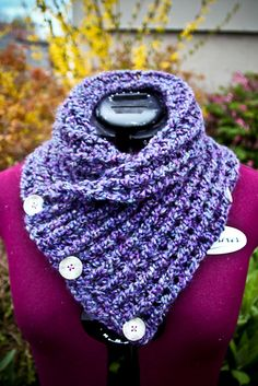 Ridged Neckwarmer - free crochet pattern