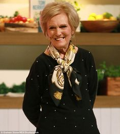 Mary Berry (pictured at the Good Food Winter Show last week) says she still watches Bake o...