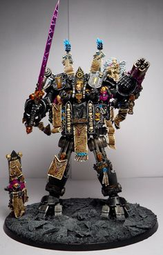 Inquisitor Karamazov on a Dreadknight! This is an awesome conversion, and quite humorous to look at too.