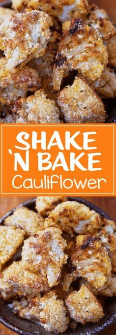 Just throw everything into a bag and shake it, then bake until crispy! Such an easy cauliflower recipe.