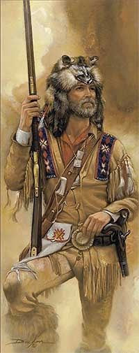 A Noble Time-Mountain Man Print by Russ Docken Native American Art, American History, Rocky Mountains, Le Castor, Westerns, Mountain Man Rendezvous, Fur Trade, West Art, American Frontier