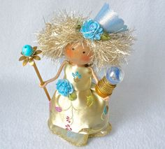 Clothespin Doll Fairy Godmother Art Doll by HeartStringsHandmade