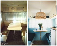 How we transformed a tired vintage caravan into our ultimate holiday home on wheels; Caravan Renovation Diy, Diy Caravan, Caravan Living, Caravan Makeover, Caravan Ideas, Vintage Caravan Interiors, Vintage Caravans, Vintage Airstream, Vintage Campers
