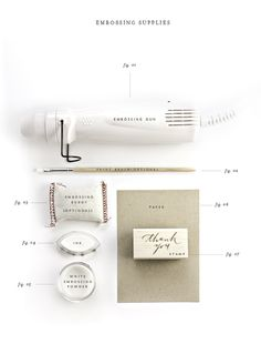 .how to emboss with rubber stamps / part one / supplies