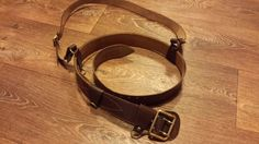 Leather Belt Military Russian Army Soviet officer Uniform Red ORIGINAL 1990 Gift