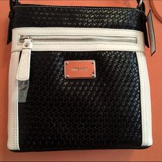 BRAND NEW black and white cross-bag from Nine West BRAND NEW with tags still attached. Black and white cross-bag from Nine West. Nine West Bags Crossbody Bags