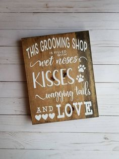 Gift For Dog Groomer Grooming Shop Decor Pet Care Rustic Dog Grooming Shop, Dog Grooming Salons, Dog Grooming Business, Poodle Grooming, Dog Spa, Dog Salon, Wedding Gifts For Groom, Dog Signs, Dog Daycare