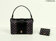 LV Ooak Designer Handbags Bag Purse with Wallet door DollhouseAra, $36,00    OMG... My Blythe need this for Christmas! *hint* *hint*