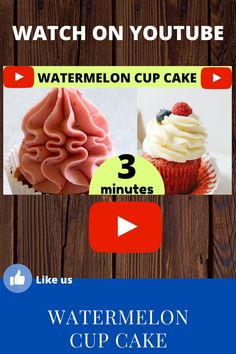 Watch out for this wonderful video, easy to learn how to do a watermelon cupcake.
