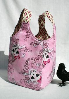 Ms Money Penny Pink Cotton Candy Skull Knitting Project by The Thrifty Needle
