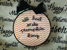 The Nightmare Before Christmas: All Hail To The Pumpkin King Hand Embroidery in 6 Inch Hoop