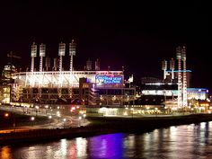 Great American Ball Park opened in 2003 along the Ohio River.