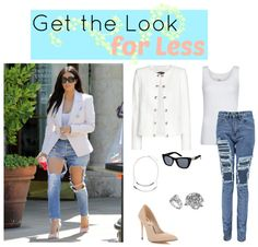 Get the Look for Less - Kim Kardashian Ripped Jeans - Celebrity Style and Fashion
