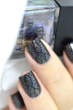 Nailpolis Museum of Nail Art | Holo Feathers by Marine Loves Polish