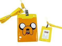 Adventure Time Yellow Colored Jake the Dog ID Card Holder @ niftywarehouse.com #NiftyWarehouse #AdventureTime #TVShow #Cartoon #Show #CartoonNetwork