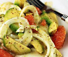 Fennel, avocado and grapefruit salad - #salad #fennel #avocado