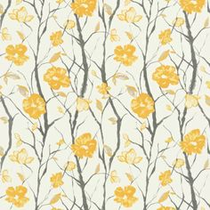 Yellow Fabric, Floral Fabric, Thing 1, Scion Fabric, Painted Rug, Fabric Wallpaper, Retro Wallpaper, Modern Fabric, Interior Design Tips