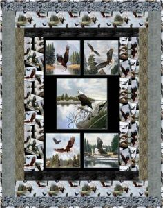 Majestic Bald Eagle Wings Free Quilt Pattern