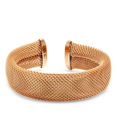 Look what I found on #zulily! Rose Gold Italian Mesh Cuff by HMY Jewelry #zulilyfinds