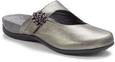 Pewter Joan Leather Mule - Women