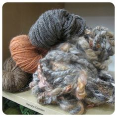 Handspun Yarn Shop and Fiber Art Blog by Neauveau: What to make with small skeins of art yarn.