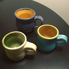 I made some mugs!  #learningisfun #pottery #beginnerpotter #wheelthrownpottery,learningisfun,wheelthrown,beginnerpotter