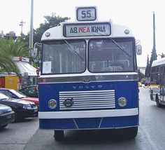 Old Athens public bus. Bauhaus, Blue Bus, Greek Music, Shattered Glass, Athens Greece, Public Transport, Good Old, Historical Photos, Greece