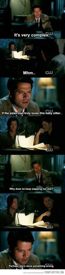 Haha cass #supernatural