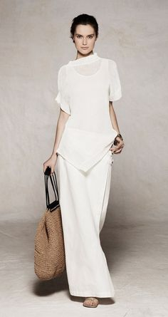 White tunic shirt. Cool Chic Style Fashion: Sarah Pacini ss 2012