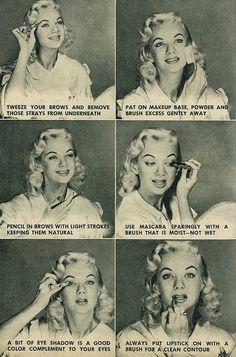 Make-up Tips c.1957 (via)