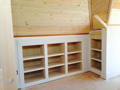 built-in knee wall storage