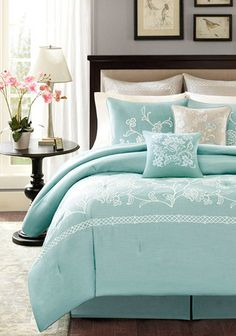 Landon Duvet Set in Blue