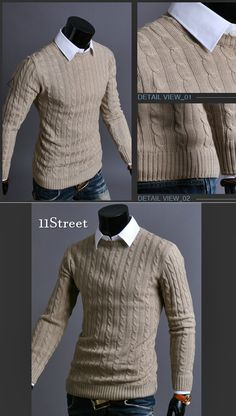 Cable Knit Pullover / Sweater [MARCATO] 11Street #autumnstyle #fallfashion #ootd
