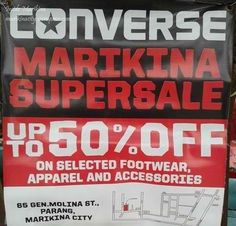 Converse Marikina Warehouse Sale schedules for 2016 are posted here. ———————– Here you will find the Converse Warehouse SALE Schedules for 2015